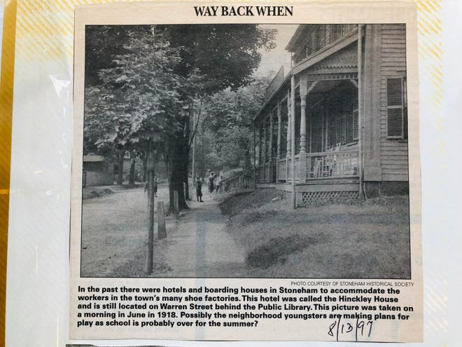 """This photo is part of an album by the late Joseph Carroll, who compild the weekly """"Way Back When"""" features. His wife, Jeannette, donated the album to the Stoneham Historical Society & Museum for others to enjoy."""
