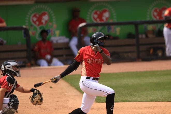 Wisconsin Timber Rattlers outfielder Je'Von Ward has a 15-game hitting streak and is leading the High-A Central League in batting.