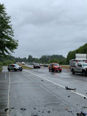 Washington State Patrol reported that two drivers suffered serious injuries in a wrong-way crash on Highway 16 in South Kitsap Sunday afternoon.