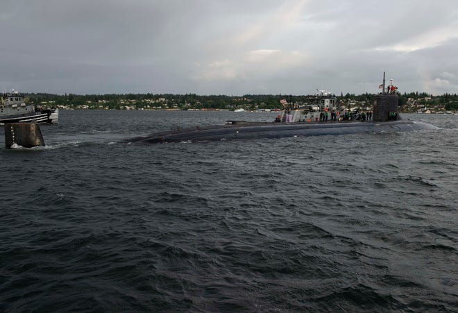 The Seawolf-class fast-attack submarine USS Connecticut (SSN 22) departs Naval Base Kitsap-Bremerton for deployment May 27. Connecticut will be conducting maritime operations in the Pacific Ocean.