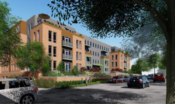 A rendering of Four23 Hoge Street, which is expected to be ready for move-in in fall 2022.