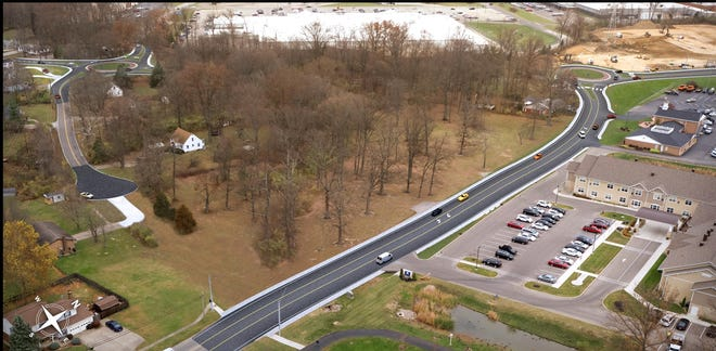 Here's a rendering of preliminary plans transportation officials have put together for a Clermont County road project designed to reduce congestion along the Aicholtz Road and Glen Este-Withamsville Road corridors. It includes three roundabouts.