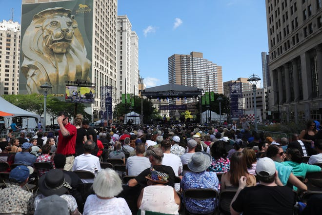 A crowd takes in a performance at the 2019 edition of the Detroit Jazz Festival.