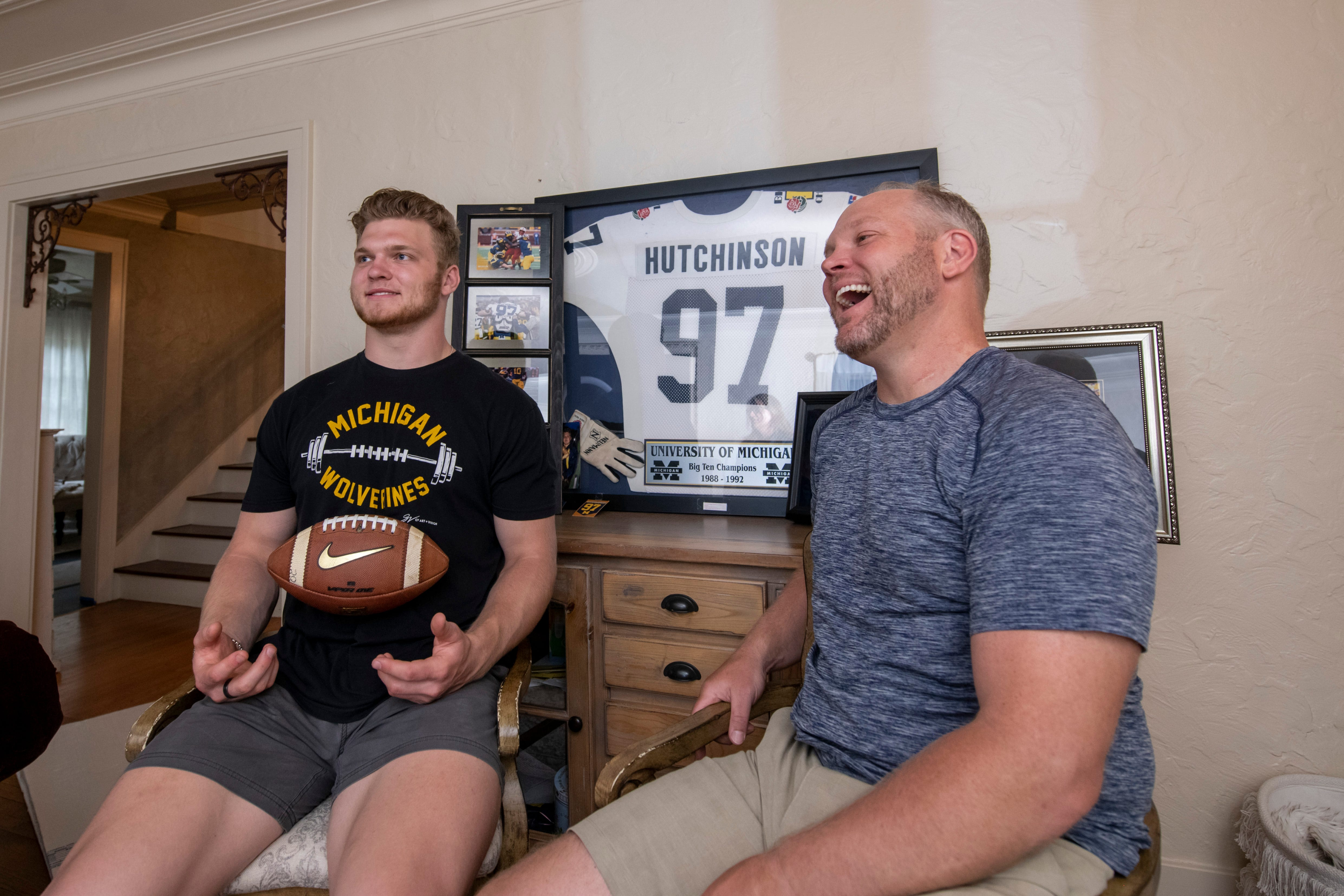 From father to son: Michigan football binds the Hutchinsons for a number of reasons 1
