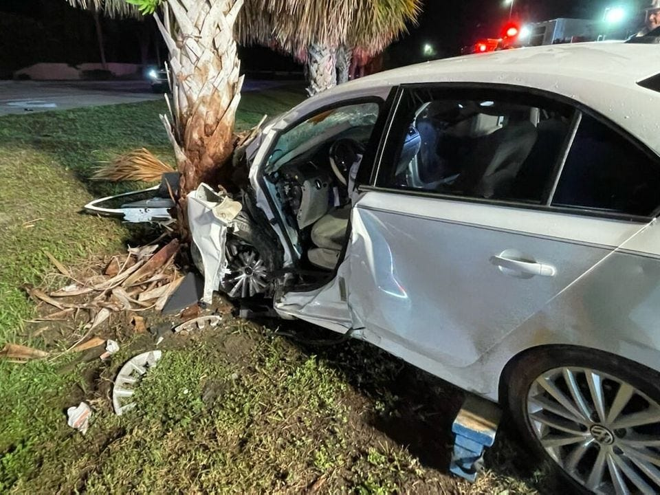 Single vehicle crash in front of Three Oaks Middle School Monday sends one to the hospital 3