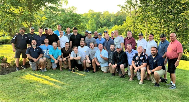 Several former players and coaches were on hand Saturday night during Rob Carpenter's surprise retirement party. Carpenter coaches the Golden Gales for 23 years before stepping down after season.