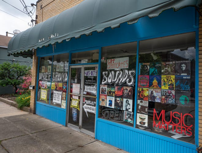 Underground Sounds record store on Barrett Ave, in Louisville, Kentucky. June 7, 2021