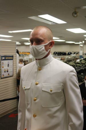 Millington native Wesley Bass during Naval Officer Candidate School in Newport, Rhode Island.
