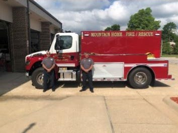 The Mountain Home Fire Department recently purchased a 2,000-gallon 2021 tanker from Midwest Fire. PHOTO PROVIDED