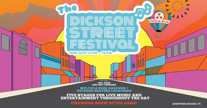 Promotional image for the first Dickson Street Festival