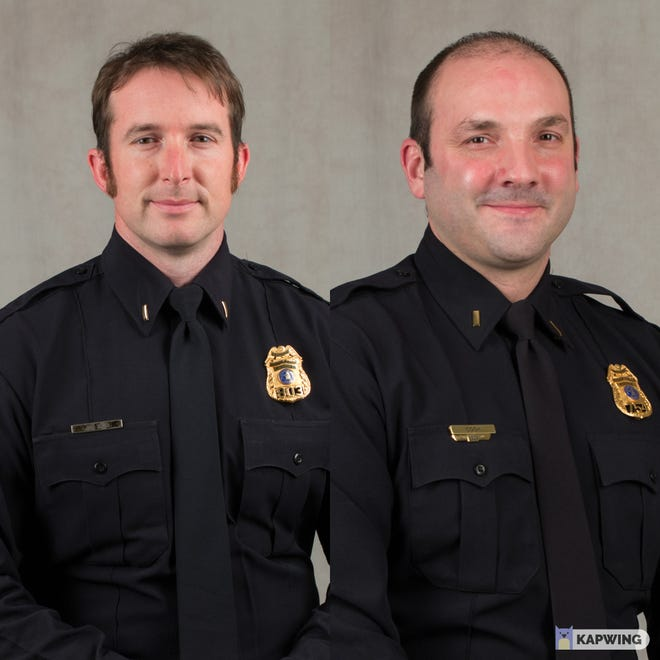 Lt. Jonathan Thum and Lt. Nick Cook of the Sioux Falls Police Department.