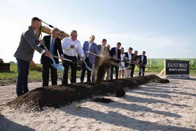 Sanford Sports Complex expansion groundbreaking on June 7, 2021.
