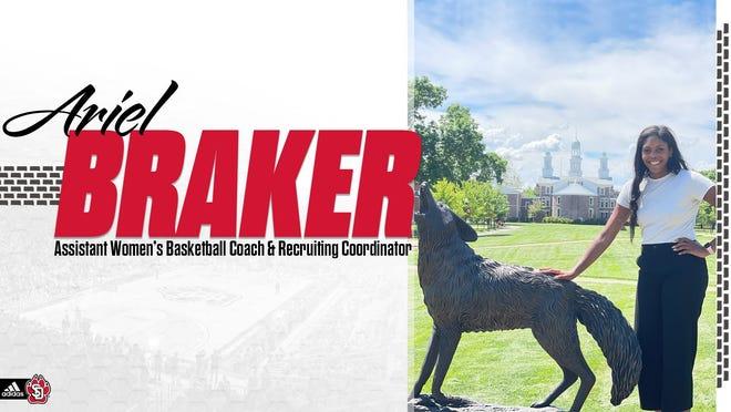 South Dakota assistant coach Ariel Braker