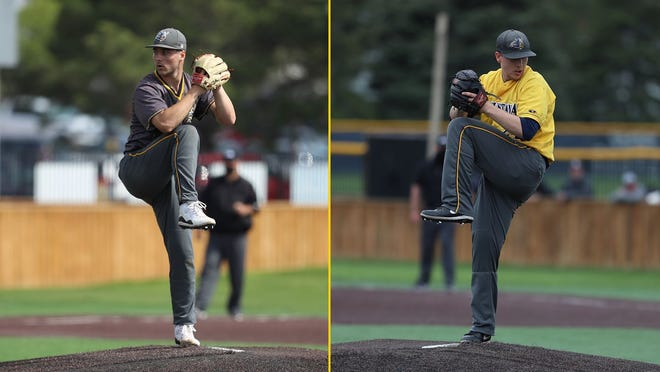 Koby Bishop (L) and Max Steffens have signed with the Kane County Cougars