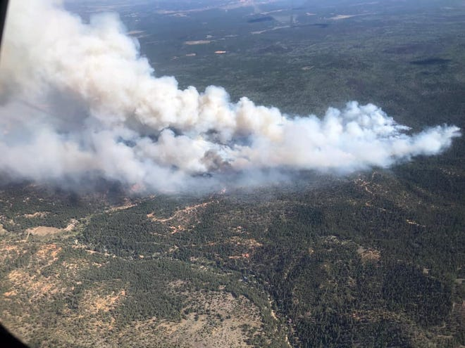 """The """"Mammoth Fire"""" started Saturday just south of the village of Mammoth Creek in the mountains east of Cedar City."""
