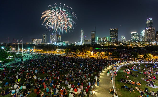 The Austin Symphony's July 4 Concert & Fireworks celebration will return to Lady Bird Lake this year.