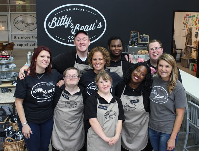 A publicity photo from the grand opening of Bitty & Beau's Coffee in Wilmington, N.C., on Jan. 10, 2020. A hiring fair for the Athens, Ga., location at 1540 Lumpkin St. is scheduled for June 19, 2021, at the Classic Center.
