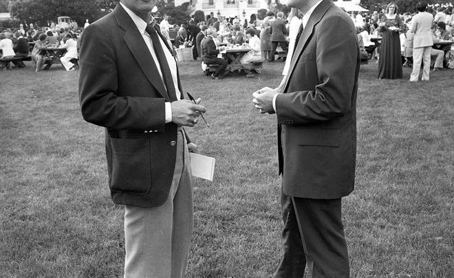 It's a beautiful night – June 11, 1980 – on the South Lawn of the White House, and the reporter asks someone to take his photo as proof of his participation.