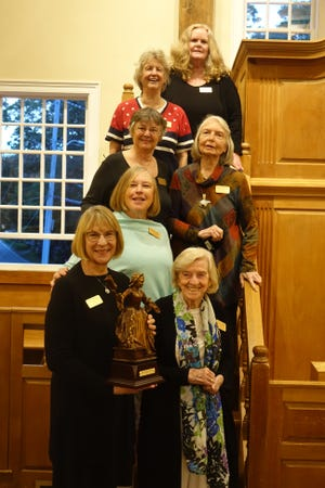 Northcross and previous recipients, from the top: Lynne Poyant (2007), Judy Walden Scarafile (2012), Nancy Shoemaker (2018), Mimi McConnell (2020), Sue French (2011), Northcross (2021) and Mary L. LeClair (2009).