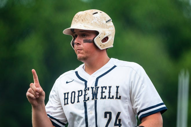 Hopewell pitcher Roman Gill. [Lucy Schaly/For BCT]
