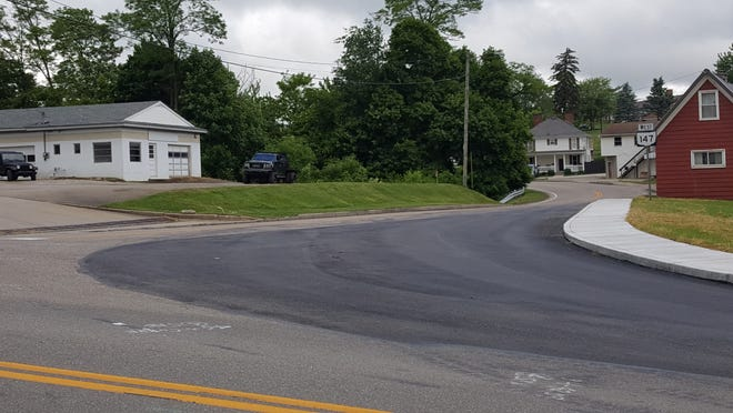 Line painting and a little touch-up work is all that remains for the Route 800 and Route 147 intersection project on the village's south side.