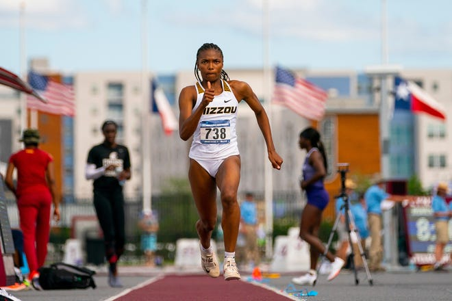 Missouri junior Arianna Fisher competes at the NCAA West Preliminary on May 29 in Austin, Texas. The San Jose, California, native will compete this week at the NCAA OutdoorTrack and Field Championships in Eugene, Ore.