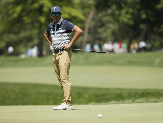 Rickie Fowler, shown here during last weekend's Memorial Tournament, came up just short of qualifying for the U.S. Open in a 36-hole qualifier that finished Tuesday at The Lakes in Westerville.
