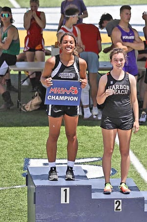 Athens sophomore Jocelyn Hall bested the field Saturday and won the Division Four State Championship in the 100 meter hurdles