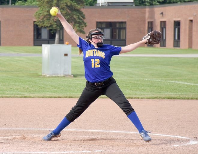 Madison Clark struck out 15 Onondaga batters in Mt. Markham's 5-3 win in the first round of Section III's Class B softball playoffs Monday.