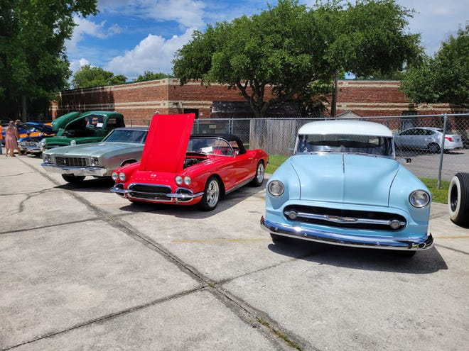 Just a few of the classics at the recent Callahan Cruisers/Adamec Harley-Davidson Rock-a-Billy Car Show.