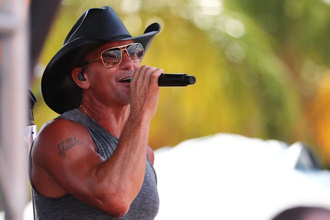 Country singer Tim McGraw will be one of the guests at the Florida Forum Speaker Series this year.