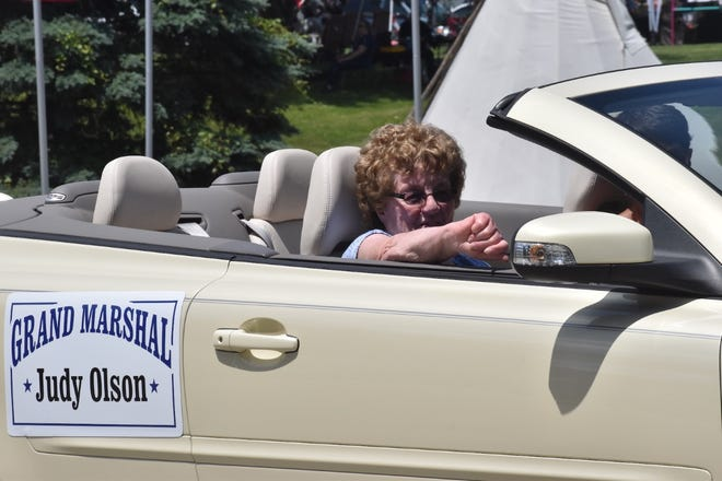 Longtime Andover resident and volunteer Judy Olson was the grand marshal of the parade along Illinois 81 on Saturday, June 5, the first day of the Andover 185th + 1 Anniversary celebration.