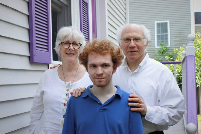 Fall River resident and recent Durfee grad Lev Elber and his parents, Shoshana Brown and Mark Elber.