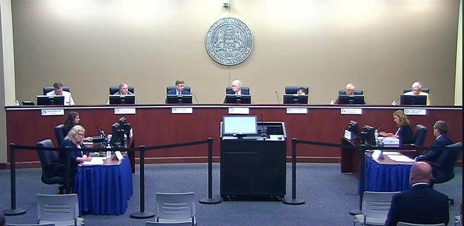 Onslow County's Board of Commissioners during Monday's regularly scheduled board meeting.