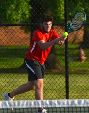 Mychal Boggs played the final match of his outstanding high school tennis career in the 2021 West Virginia High School State Tennis Tournament. Boggs dropped a tough, 9-7, loss to Ethan Lang of Parkersburg Catholic.