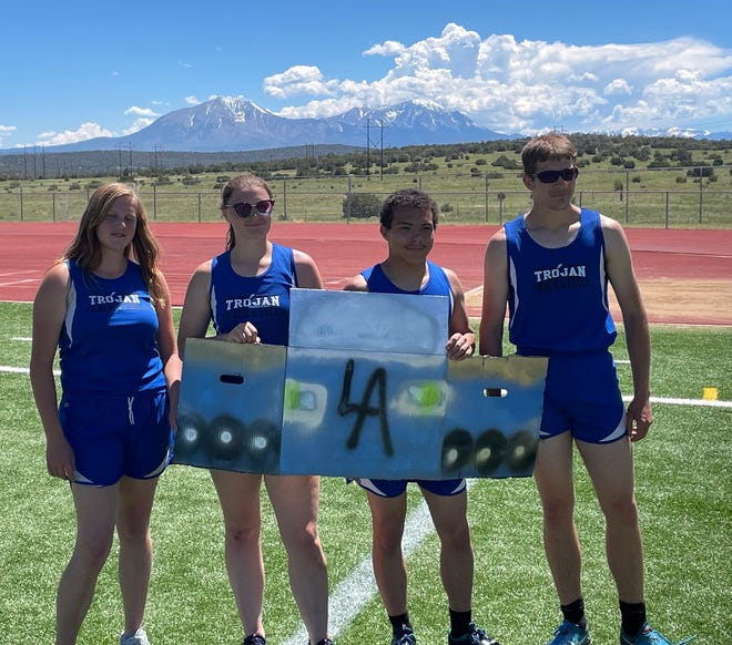 The Six-Four Invite in Walsenburg was also an homage to the 64 Impala. In celebration the meet ended with teams creating a box car and racing around the track. The Trojans' team placed third.
