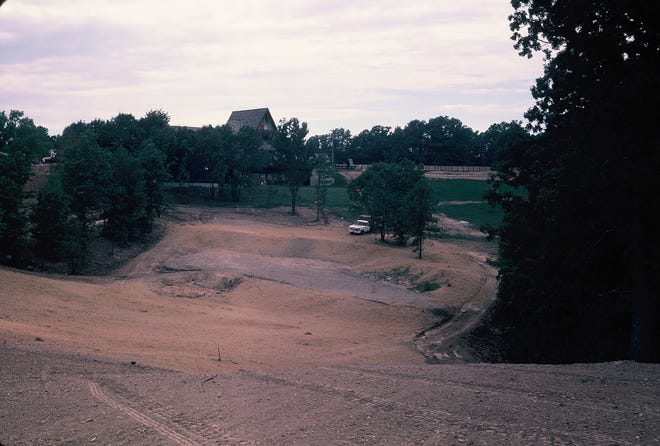 A view of construction of Hole No. 9 at The Oaks.