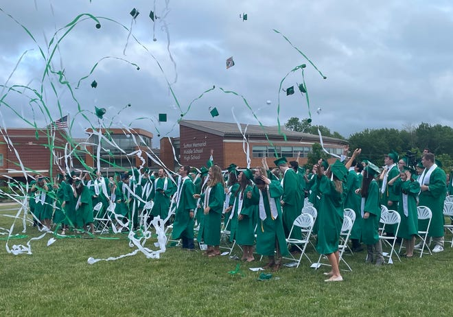 The spirit of celebration was not hindered by gray clouds at the June 3, 2021, graduation at Sutton Memorial High School.