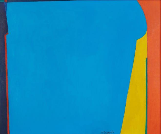 صليبا الطويحي (إيتون ، لبنان ، 1915-نيويورك ، 1994) بدون عنوان ، ج.  1960-1969 زيت على لوحة قماشية ، 19.4 × 23.5 بوصة.  معرض مؤسسة بارجيل للفنون ، الشارقة ، الإمارات العربية المتحدة