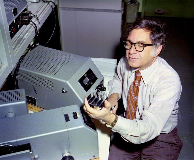Elliot Volkin in the research lab.