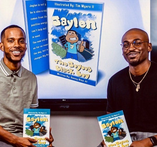 Danny Blue and Tim Myers present their new book, 'Jaylen, the Joyous Black Boy,' which was released back in December.