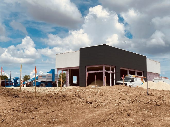 This building under construction at 7190 E. Riverside Blvd. in Loves Park will house a Chipotle Mexican Grill.