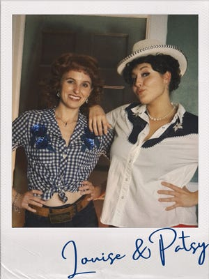 """Morganna Bridgers (left) and Annie Tracy Marsh (as Patsy Cline) star in Opera House Theatre Co.'s production of the country musical """"Always, Patsy Cline."""""""