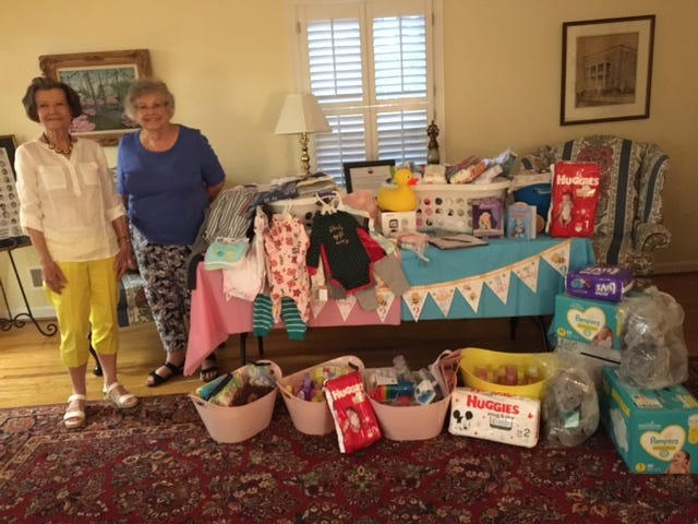 Wilmington Woman's Club holds baby shower.