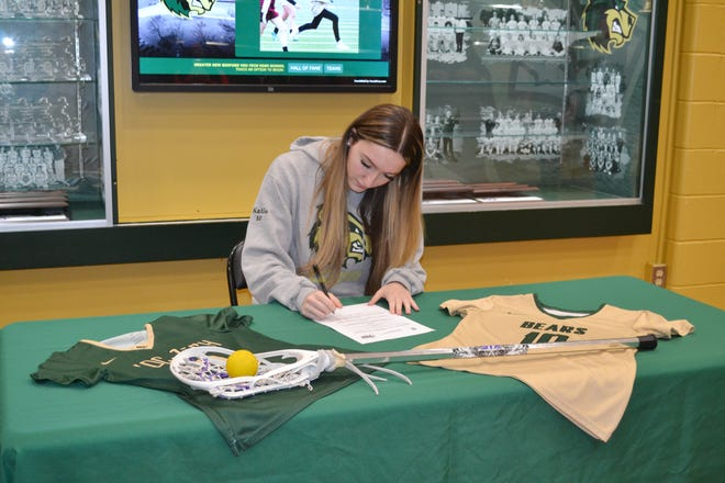 GNB Voc-Tech's Kaitlyn Winterson recently signed to play lacrosse at Rhode Island College.