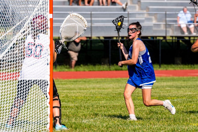 Fairhaven's Sydney Burke drives towards goal in a game earlier this fall.