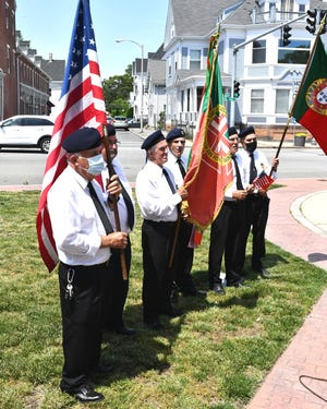 The annual Portuguese flagraising ceremony at the Old Colony History Museum kicked off the Day of Portugal celebrations in Taunton on Saturday, June 5. Veterans take part in the flag raising ceremony.