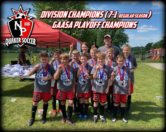 New Philadelphia U10 soccer division and playoff champions