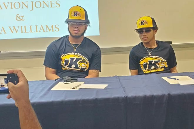 Sandusky High School graduates Tasavion Jones(left) and Caja Williams have committed to Kent State Tuscarawas University baseball