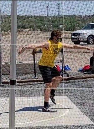 East High School's Xavier Freeman throws the discus during a meet at Dutch Clark Stadium this spring. [Courtesy photo/Tony Freeman]